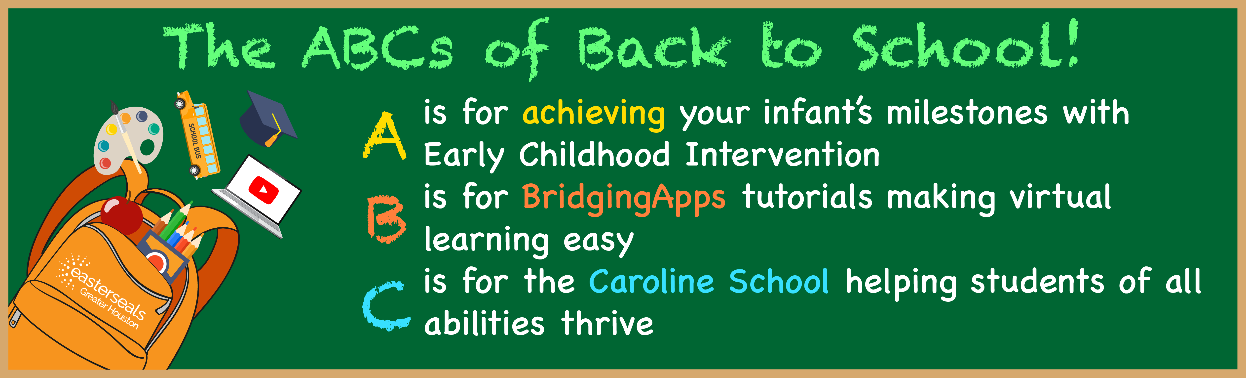 Learn more about the Early Childhood Program, BridgingApps and the Caroline School here